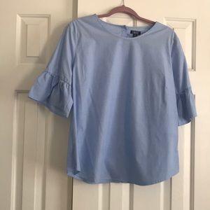 Blue top / bell sleeves